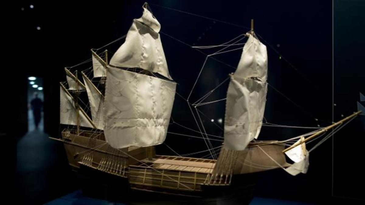 A model of Mary Rose on display at the Mary Rose Museum at Portsmouth's Historic Dockyard . (Credit: Dan Kitwood/Getty Images)