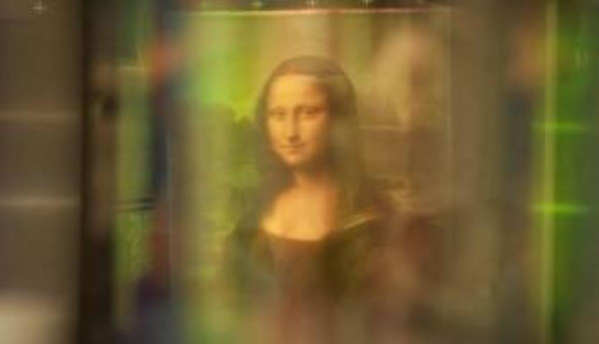 Light technology used on the famous painting. (Credit:  Brinkworth Films)