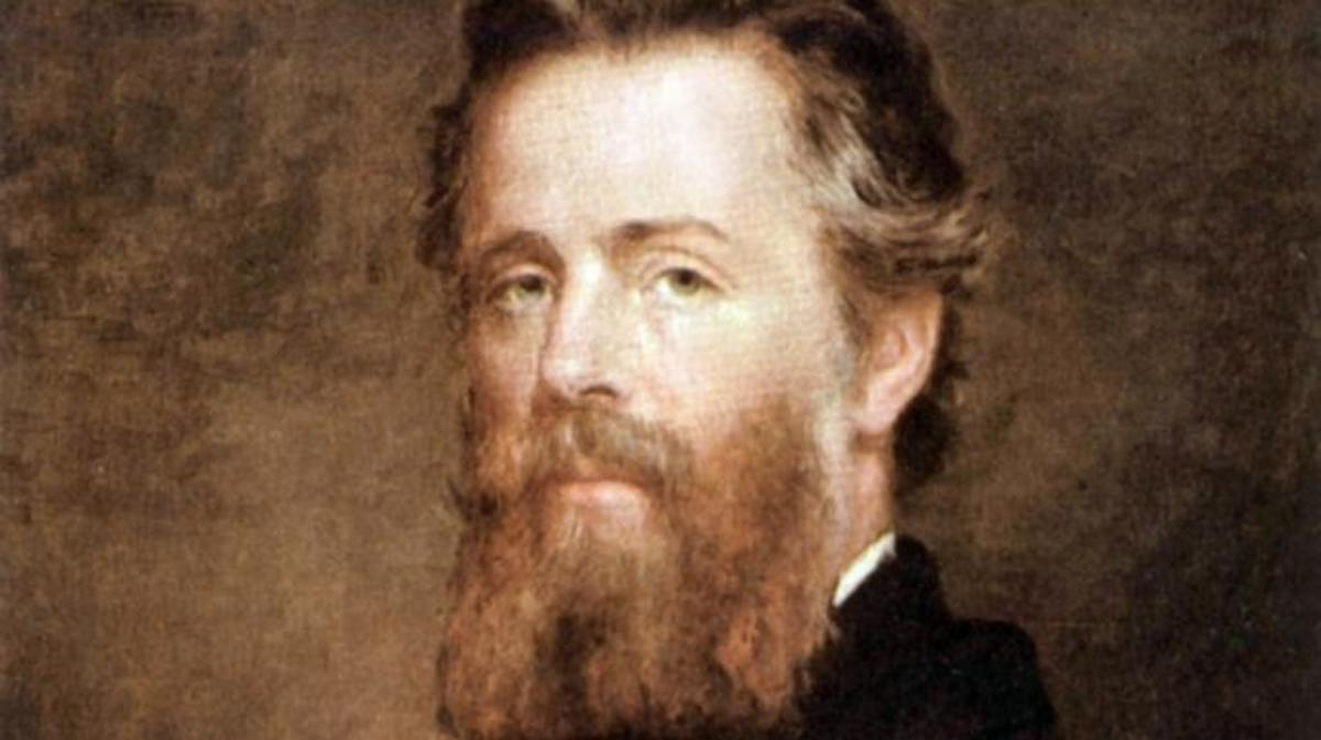 Herman Melville, painted by Joseph Eaton. (Credit: Apic/Getty Images)