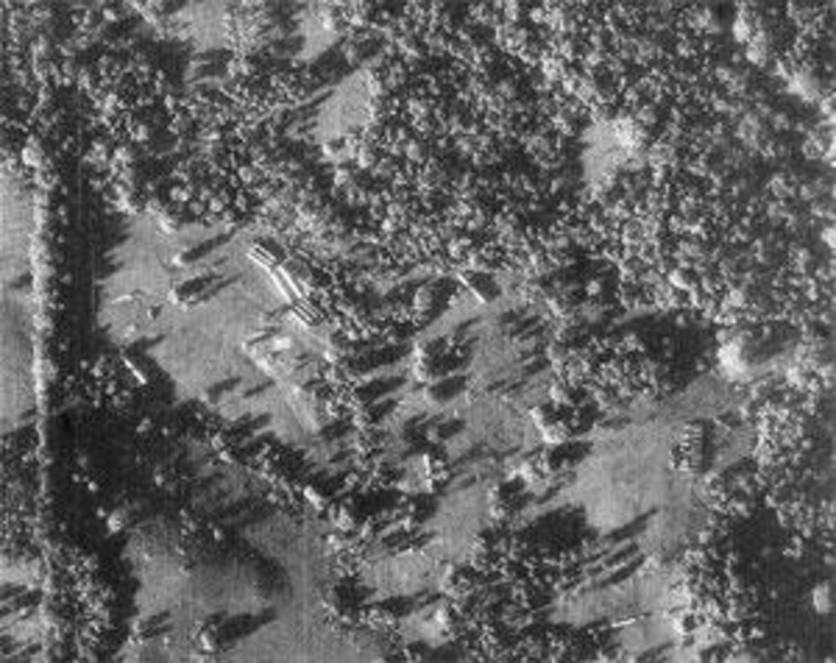 U-2 reconnaissance photo showing evidence of missile assembly in Cuba. (CIA)