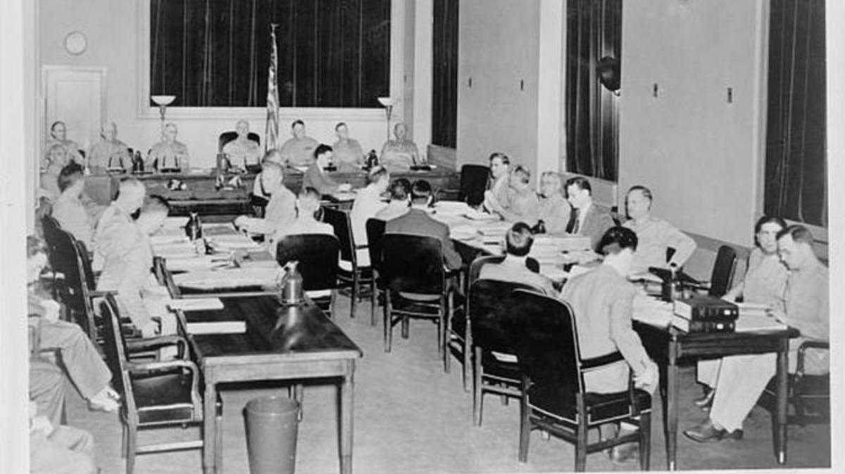 The trial of the Nazi saboteurs