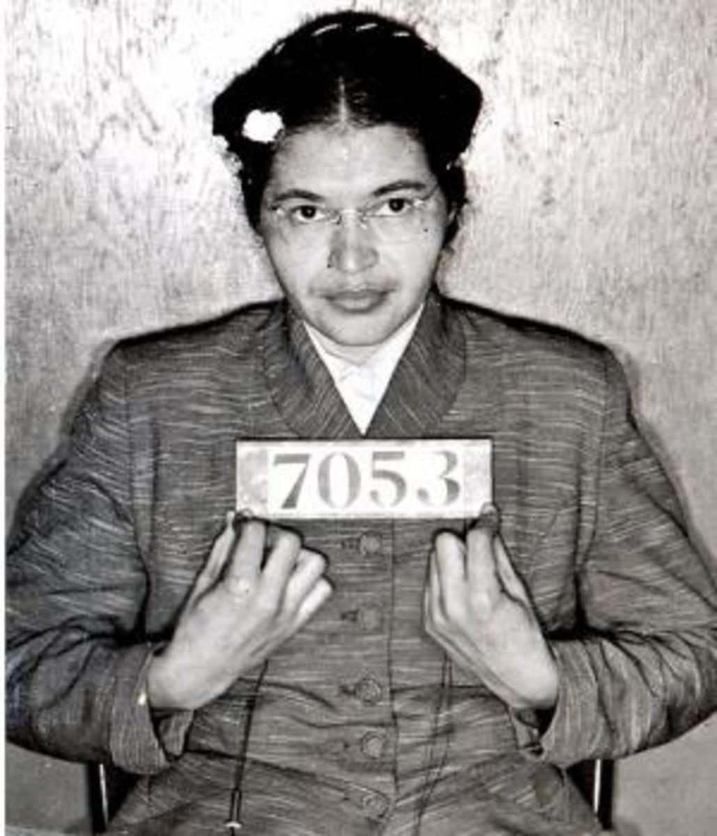 Park's booking photo after her second arrest in February 1956.