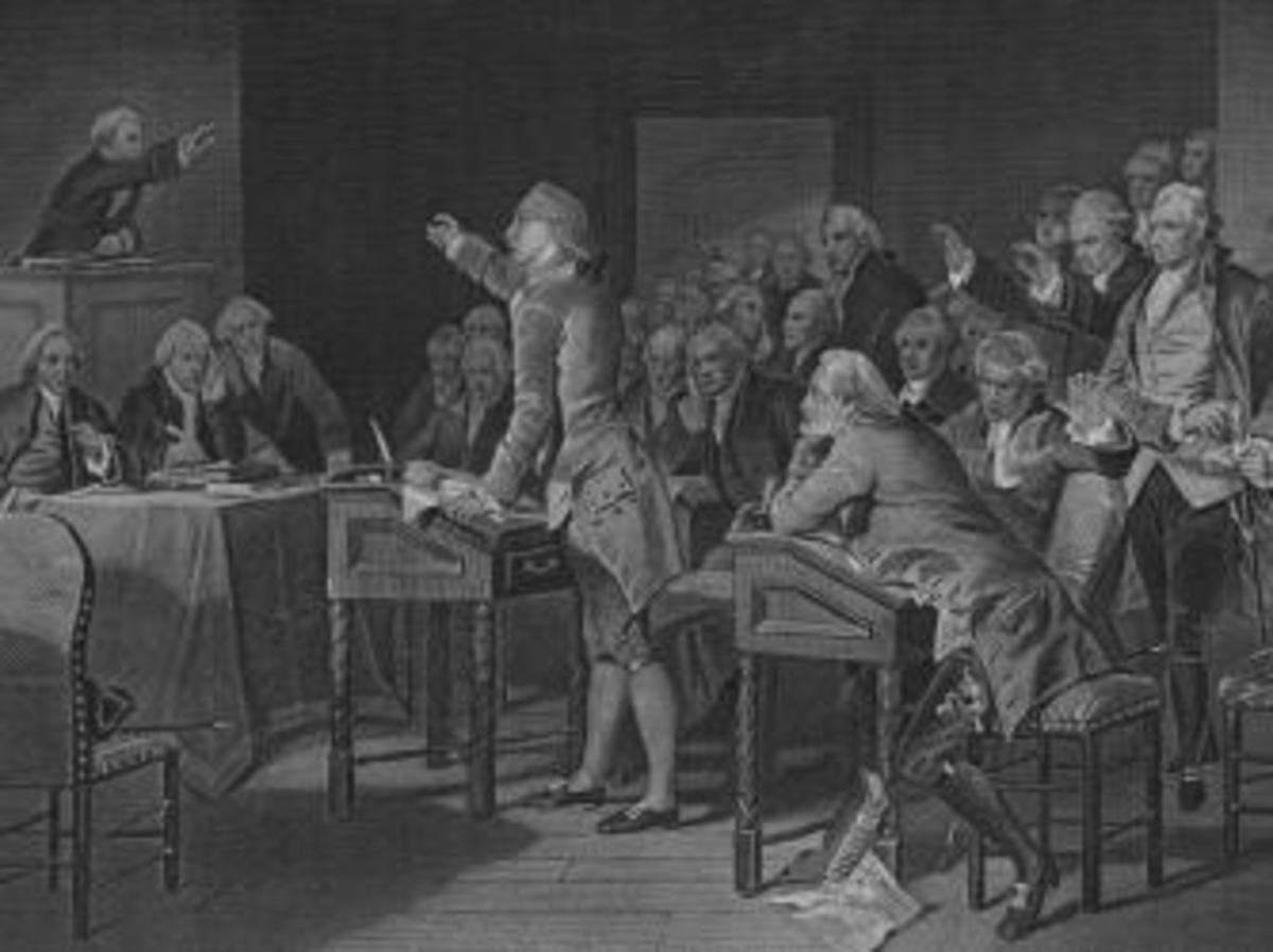 Another engraving depicting Henry's speech
