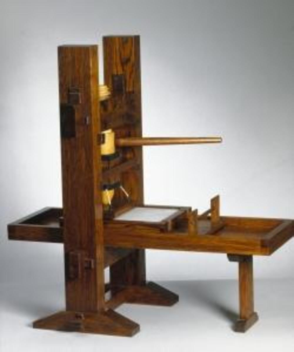 Conjectural model of Gutenberg's press (Credit: SSPL/Getty Images)