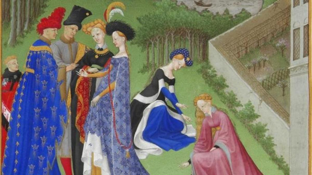 The marriage of Charles of Orleans and Bonne of Armagnac at the Chateau de Dourdan, from The Book of Hours of the Duke of Berry . (Credit: Online Library of Liberty)