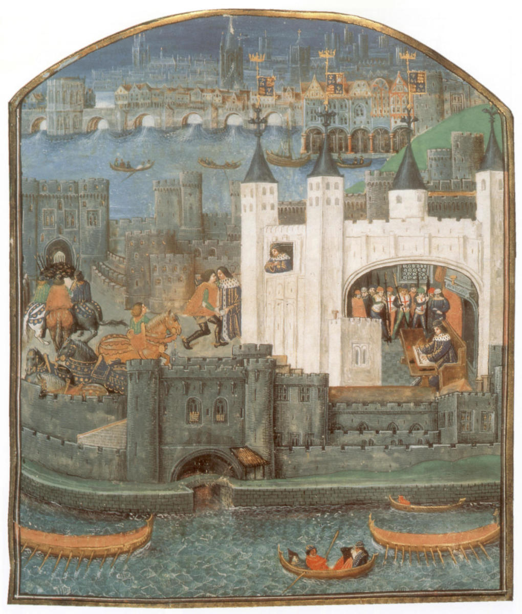 "View of the tower where Charles was captured, illustrated in ""Poems of Charles, Duke d'Orleans"" c. 1500.  (Credit: Apic/Getty Images)"