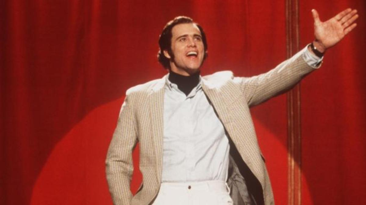 "Jim Carrey as Andy Kaufman in the 1999 movie ""Man on the Moon"", the subject of the new documentary Jim & Andy: The Great Beyond. (Credit: Universal Studios/Getty Images)"