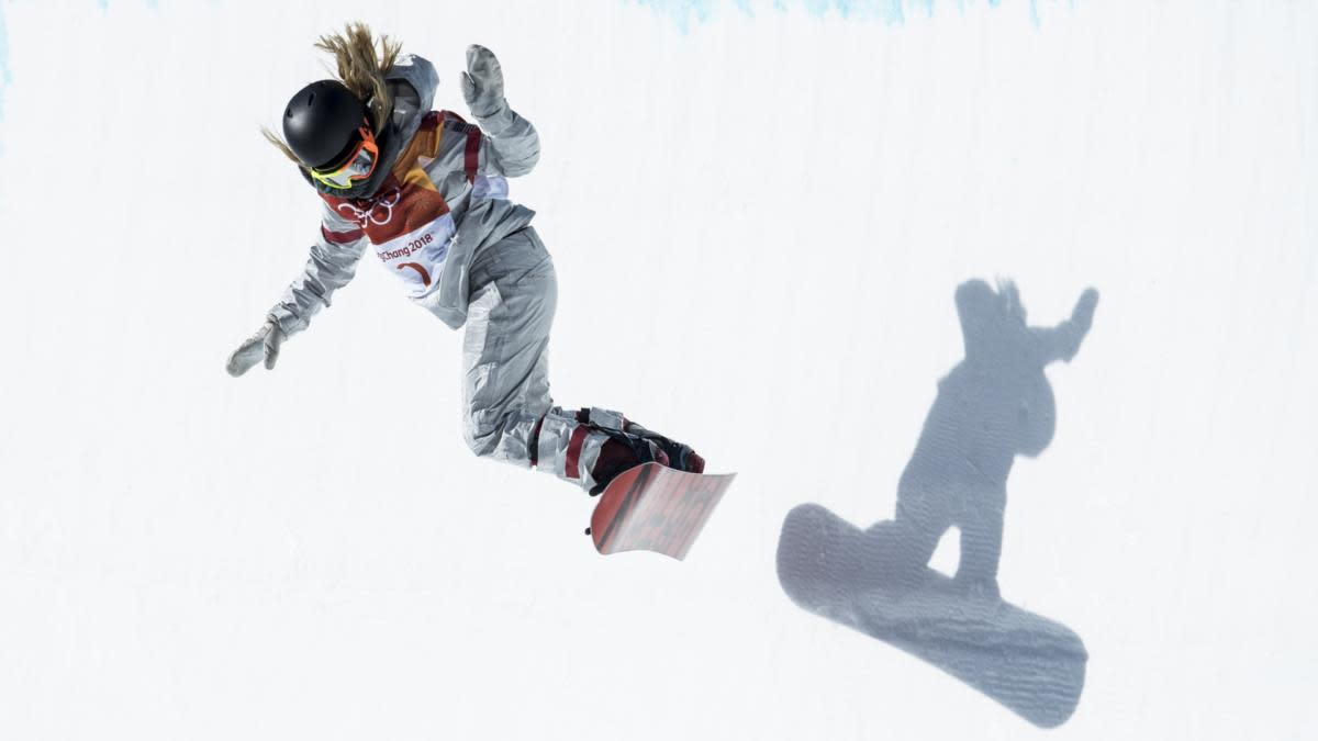 Chloe Kim of the United States during the Snowboard Halfpipe Final on day four of the PyeongChang 2018 Winter Olympic Games at Phoenix Snow Park, 2018. (Credit: XIN LI/Getty Images)