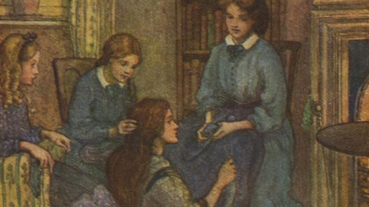 Little Women by Louisa M Alcott, illustrations by M V Wheelhouse. (Credit: Culture Club/Getty Images)