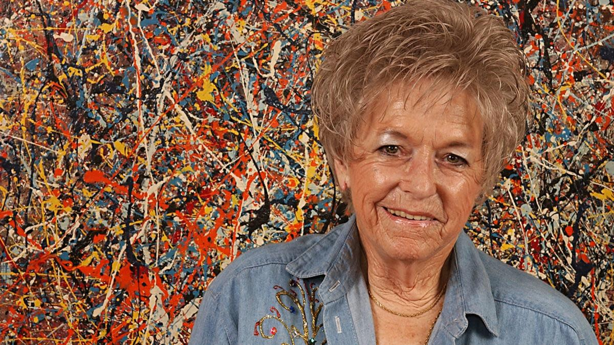 Teri Horton paid $5 for this original Jackson Pollock painting at a thrift store in San Bernardino, California. (Cedit: Vaughn Youtz/ZUMA Press/Alamy Photo)