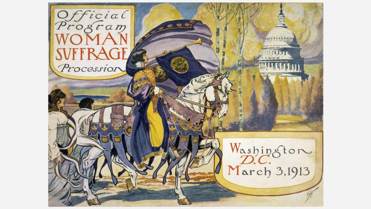 The official program of the Woman Suffrage Procession on March 3, 1913, in Washington, DC. (Credit: VCG Wilson/Corbis via Getty Images)