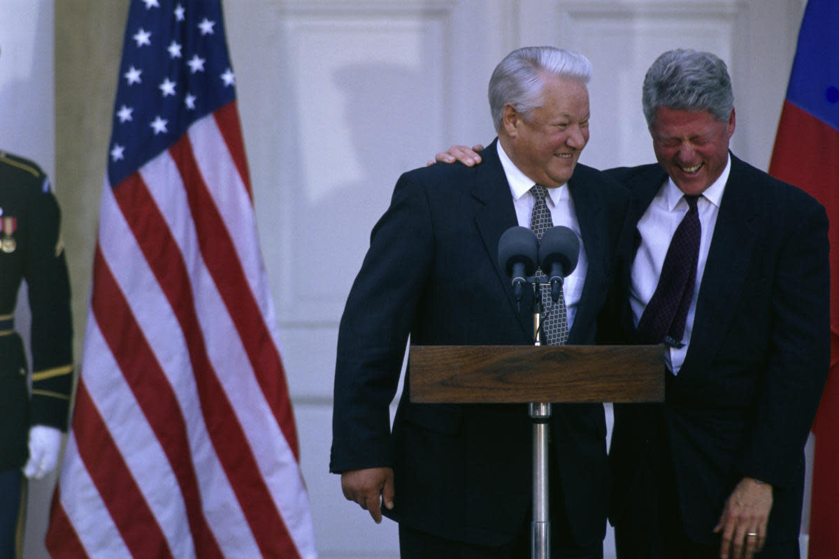 President Bill Clinton and Boris Yeltsin