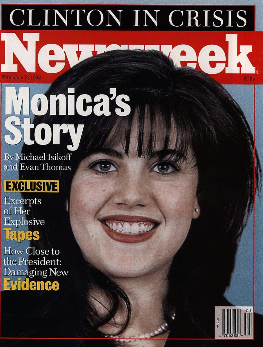 Monica Lewinsky on the cover of the Feb. 2, 1998 edition of Newsweek magazine. (Credit: AP Photo)