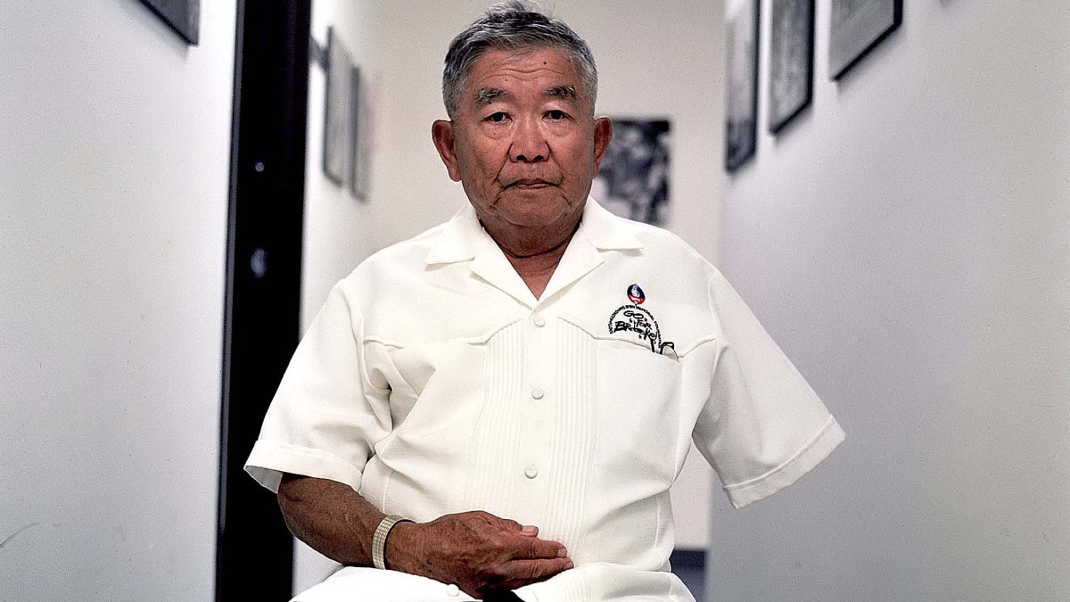 Don Seki inside the Japanese-American WWII Association building, 2005. (Credit: Jonathan AlpeyrieGetty Images)