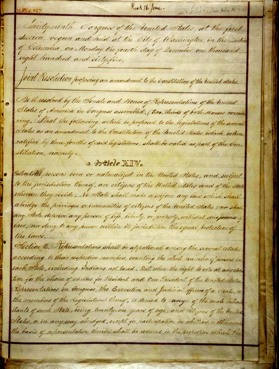 14th Amendment History