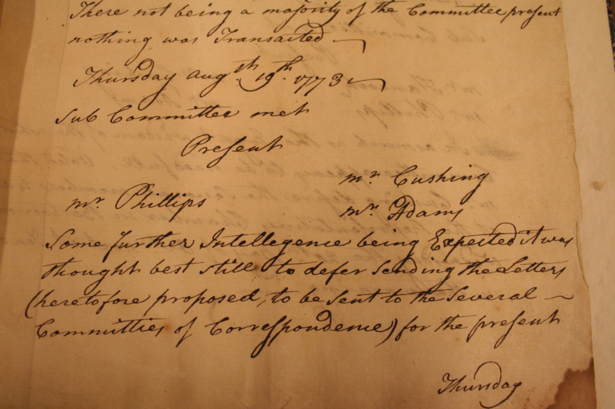 Committees Of Correspondence History
