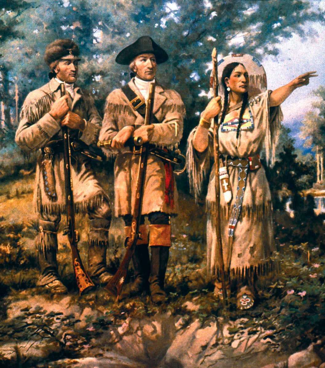when did the corps of discovery meet sacagawea images
