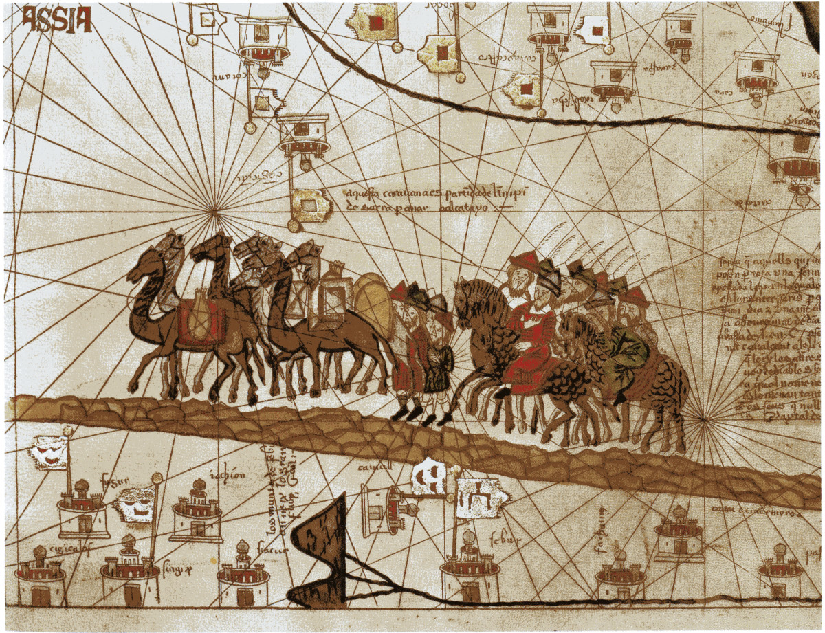 Marco Polo - HISTORY on marco polo china route map, marco polo's expeditions map, big marco polo travel map, trans saharan trade route map, ancient silk road route map, christopher columbus voyage route map, silk road trade route map, marco polo's route on a map, marco polo trade route map,