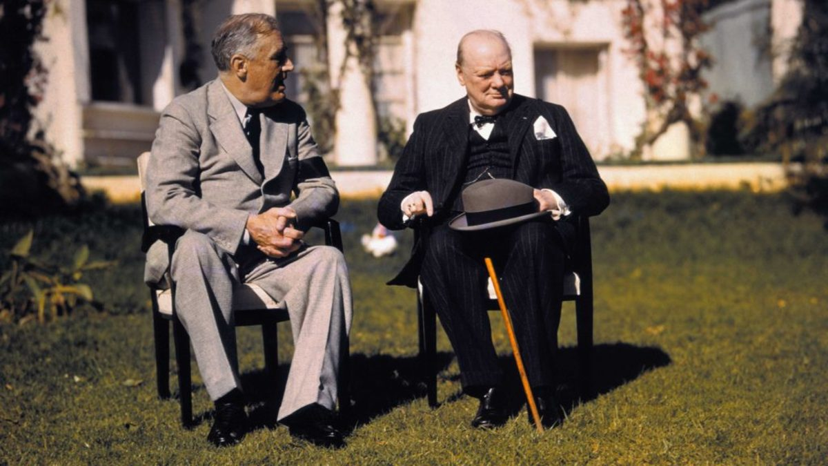 FDR and Churchill at the Casablanca conference