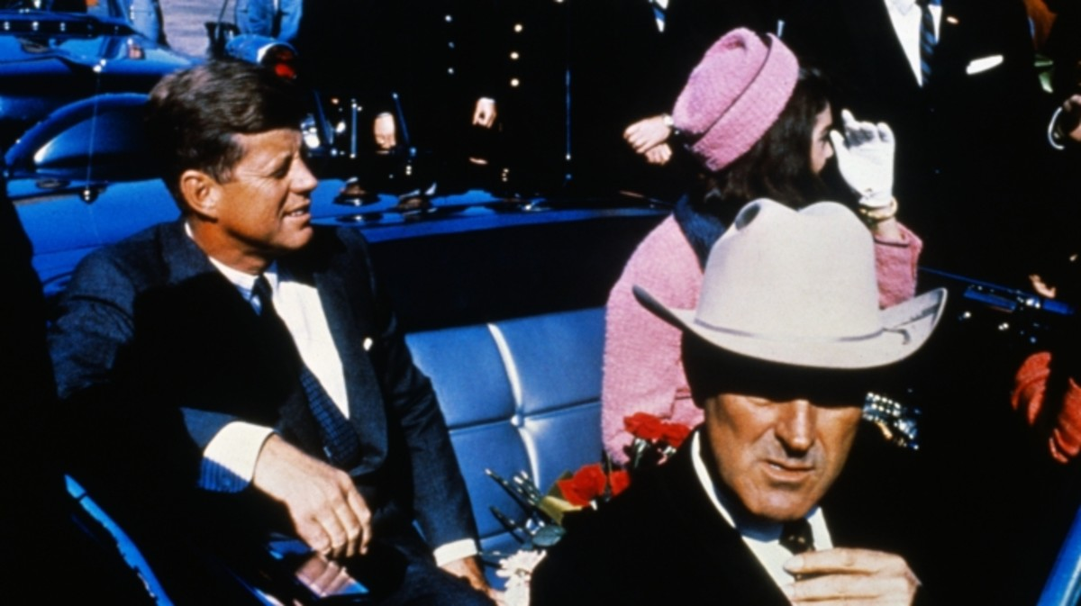 President John Kennedy moments prior to his assassination.