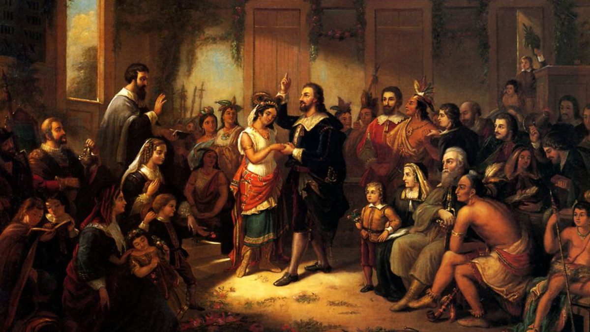 Pocahontas and John Rolfe