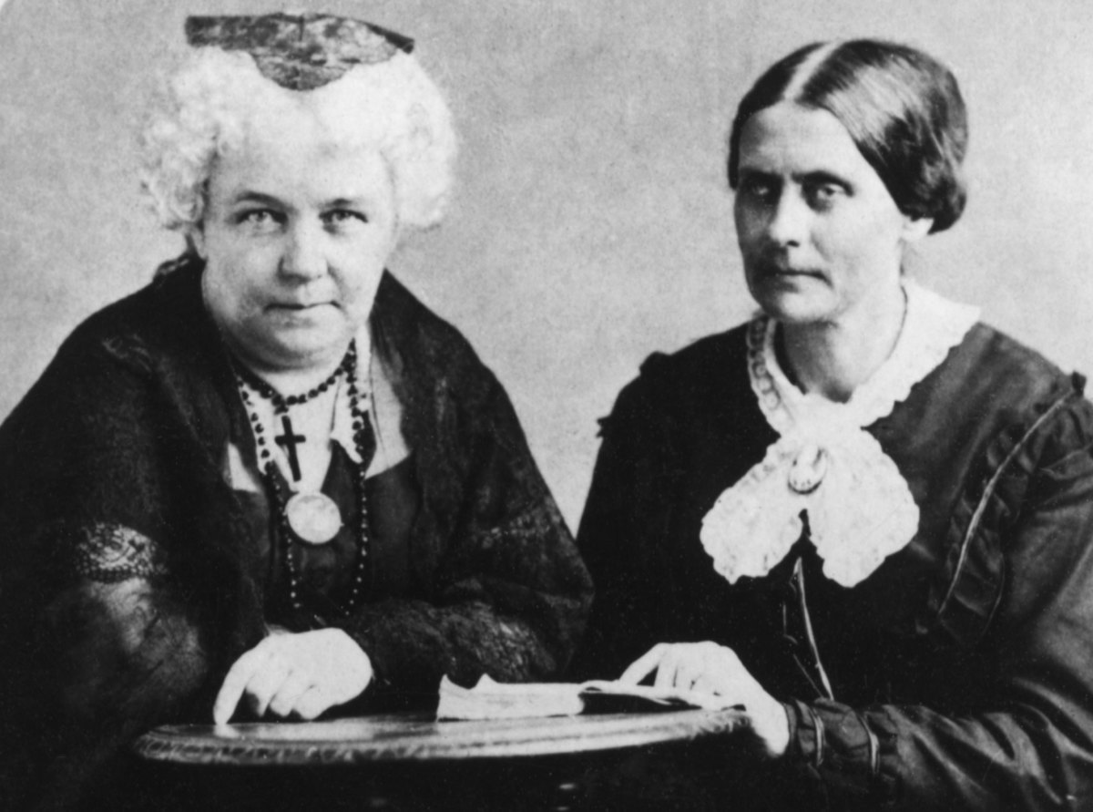 Elizabeth Cady Stanton and Susan B. Anthony, founders of The National Woman Suffrage Association, circa 1881.