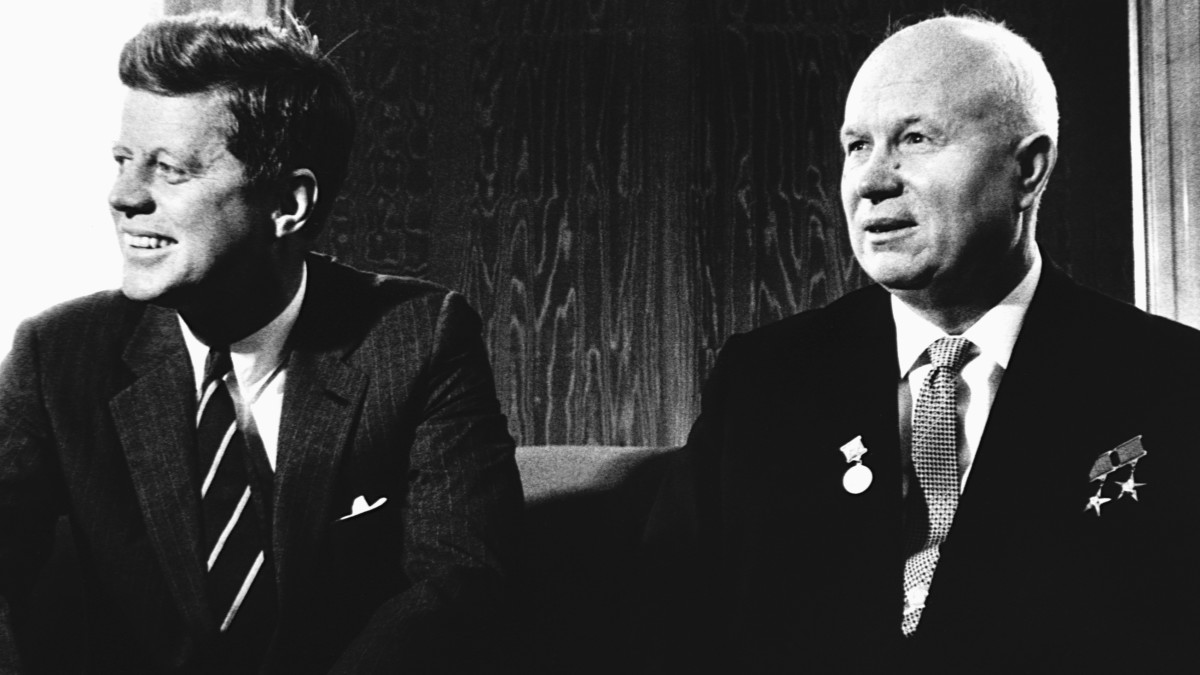 President Kennedy meeting with Soviet Premier Nikita Khrushchev at the Vienna Summit in June, 1961.