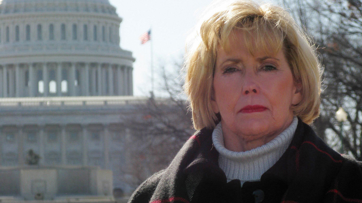 Lilly Ledbetter in front of the U.S. Capitol, 2008. Ledbetter worked in an Alabama Goodyear tire factory as a night-shift supervisor for nearly 20 years, and did not make as much as her male counterparts who did the same work.