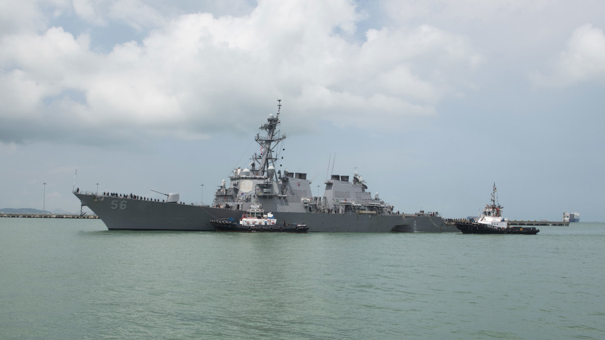Guided-missile destroyer USS John S. McCain, 2017.