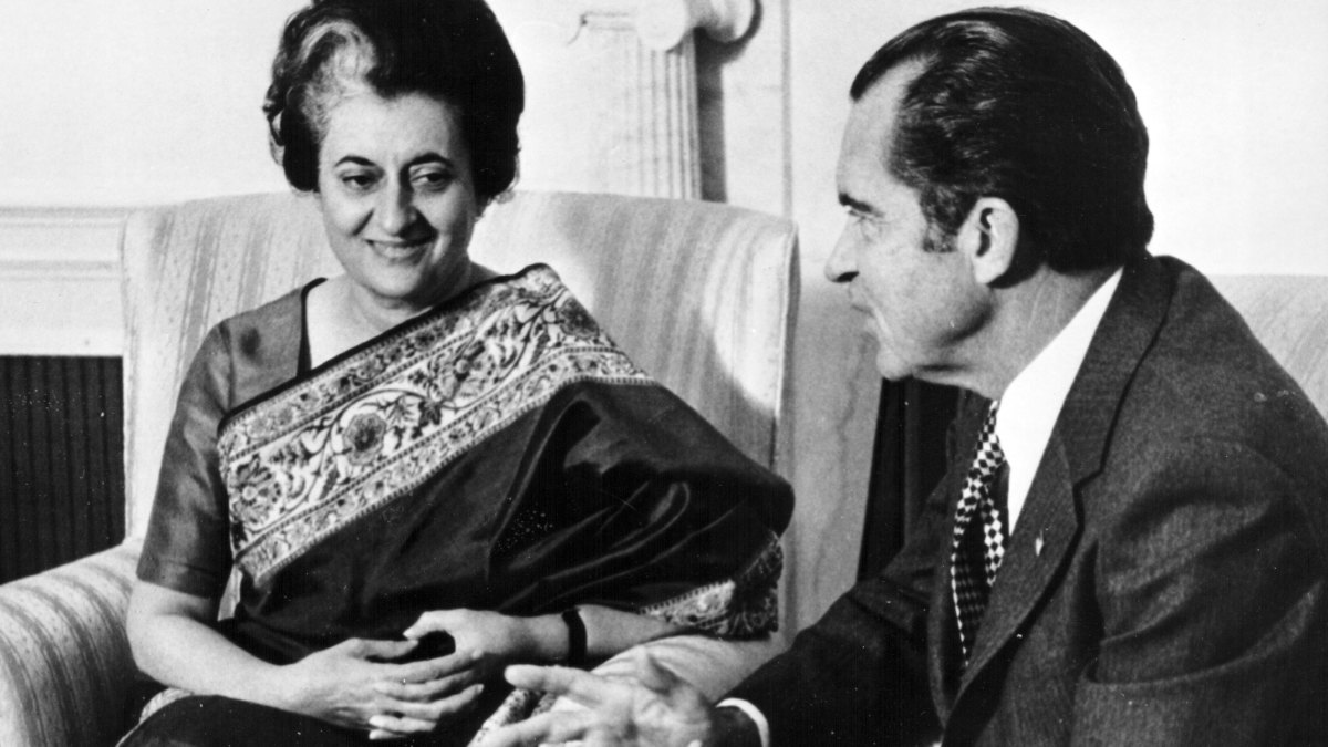 Indira Gandhi and Richard Nixon