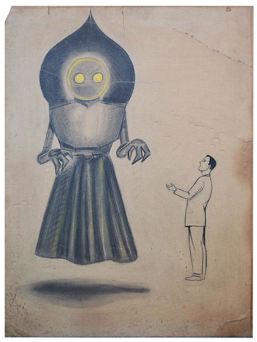Original drawing of the Flatwoods Monster