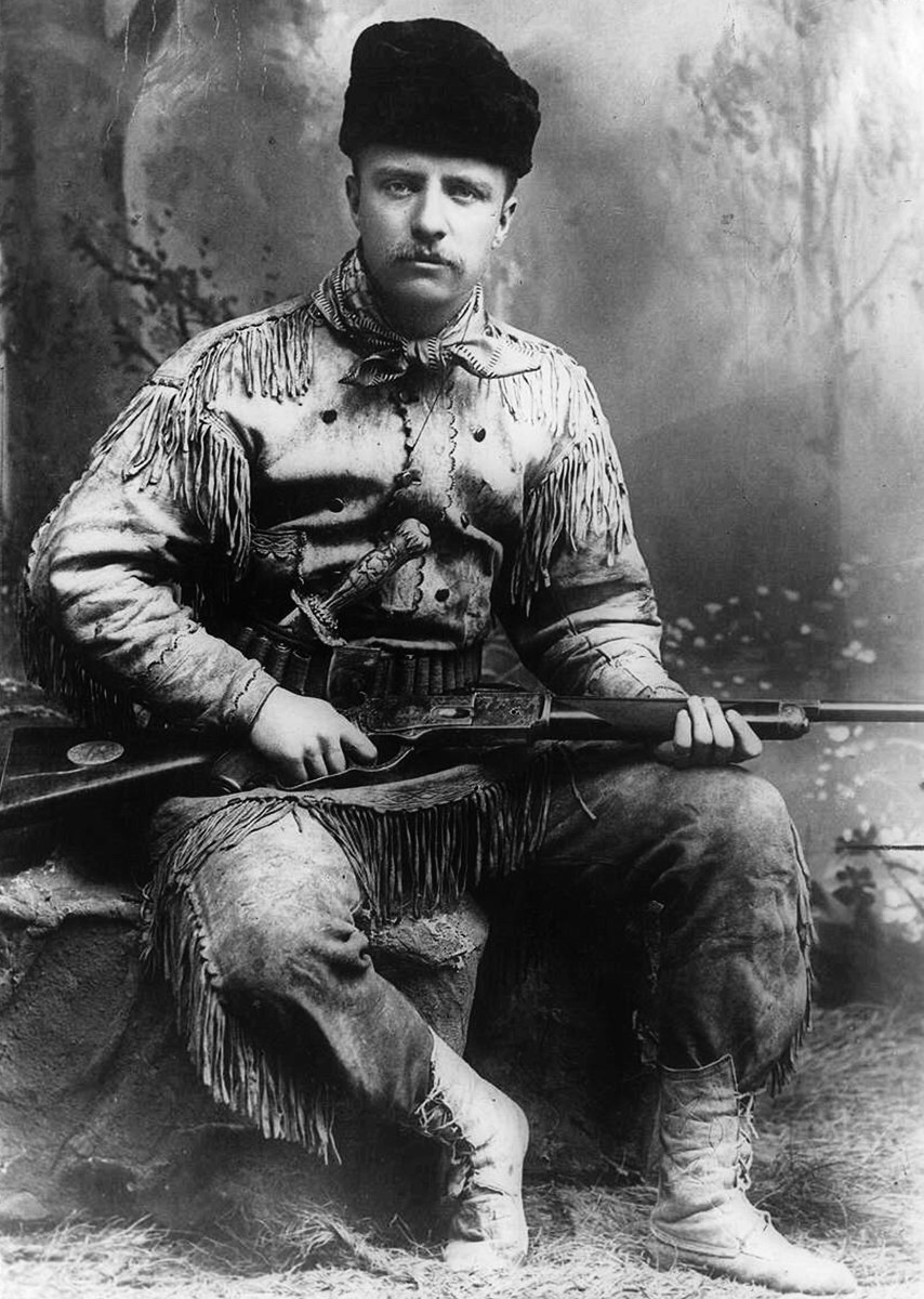 Theodore Roosevelt on his ranch in North Dakota.