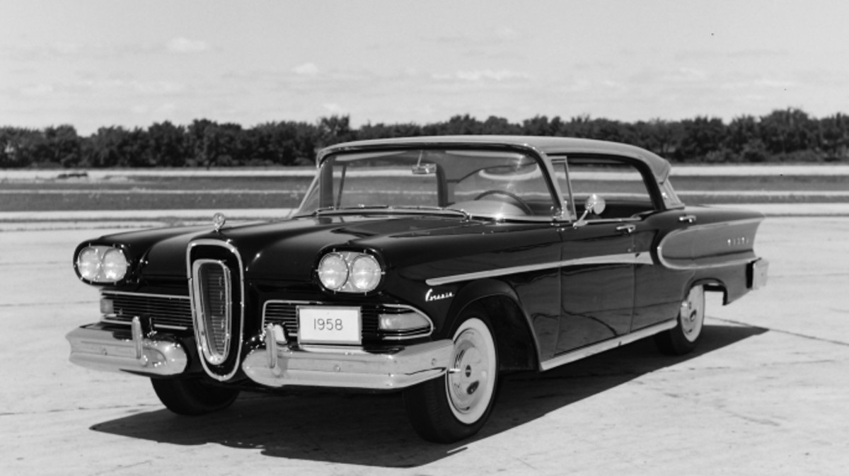 The Cars That Made America History 1949 Ford 2 Door Sedan 1958 Edsel Corsair For Motor Life Magazine