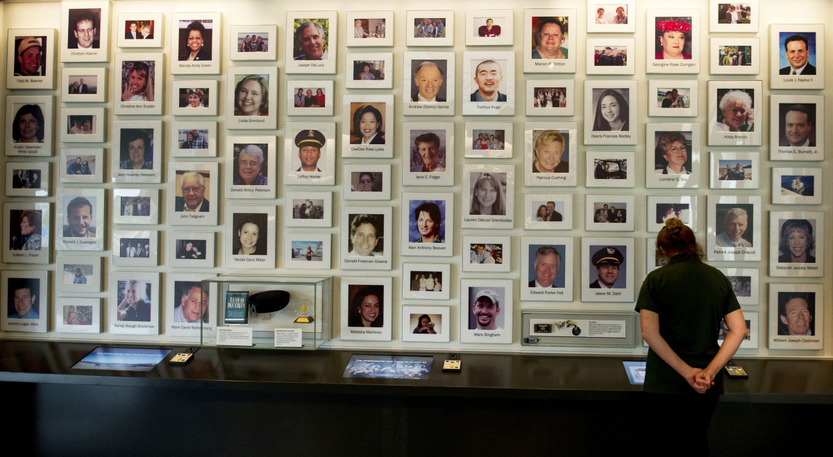 A display at the visitor center at the Flight 93 National Memorial on September 10, 2015 in Shanksville, Pennsylvania.