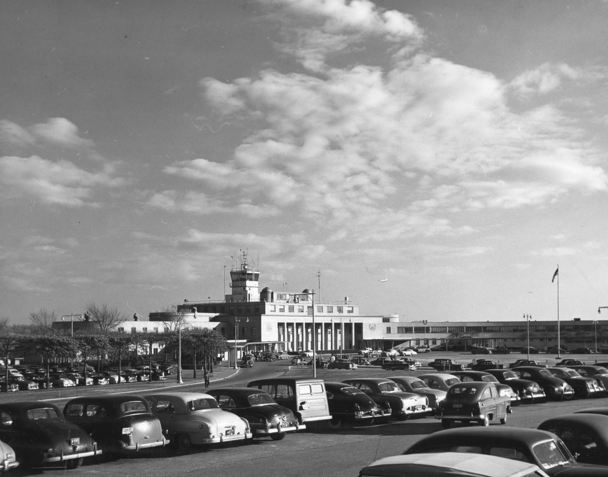 The Washington National Airport, 1953.