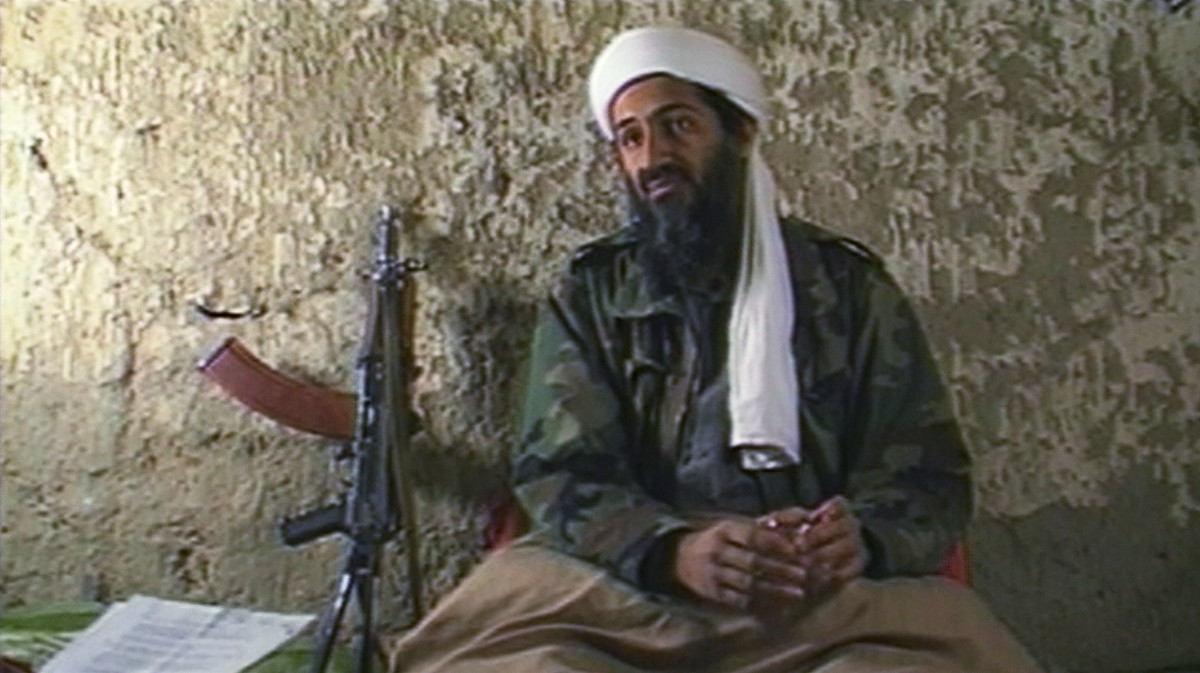 Osama bin Laden, leader of the terrorist group al-Qaeda, explaining why he has declared a 'jihad' or holy war against the United States on August 20, 1998 from a cave hideout somewhere in Afghanistan.