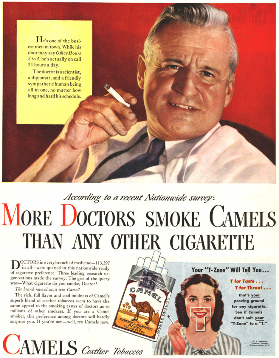 1946 cigarette advertisement launched by R.J. Reynolds Tobacco Company.