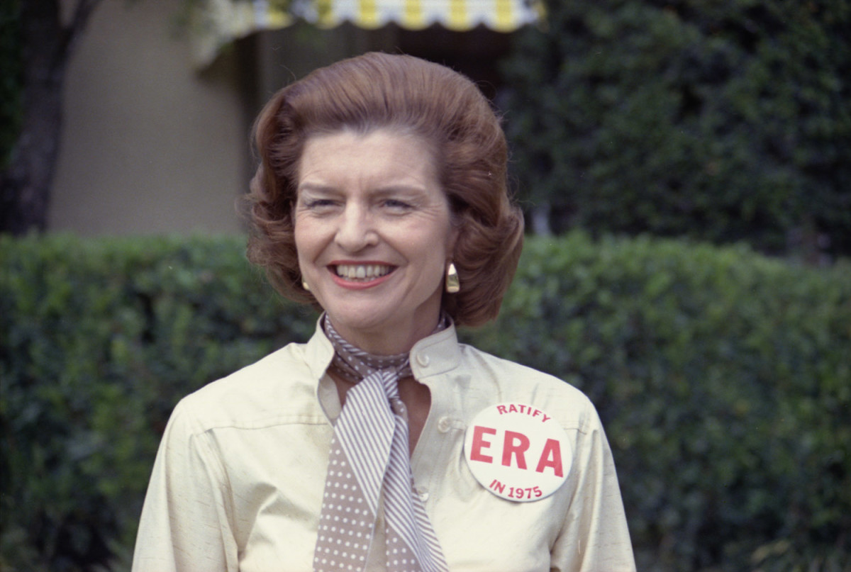 Betty Ford      was outspoken in her support for the Equal Rights Amendment.