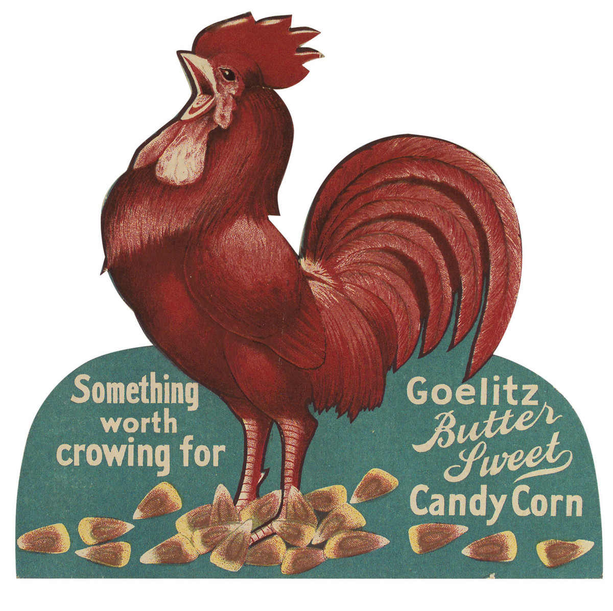 The 1898 packaging design for Goelitz Candy Corn.