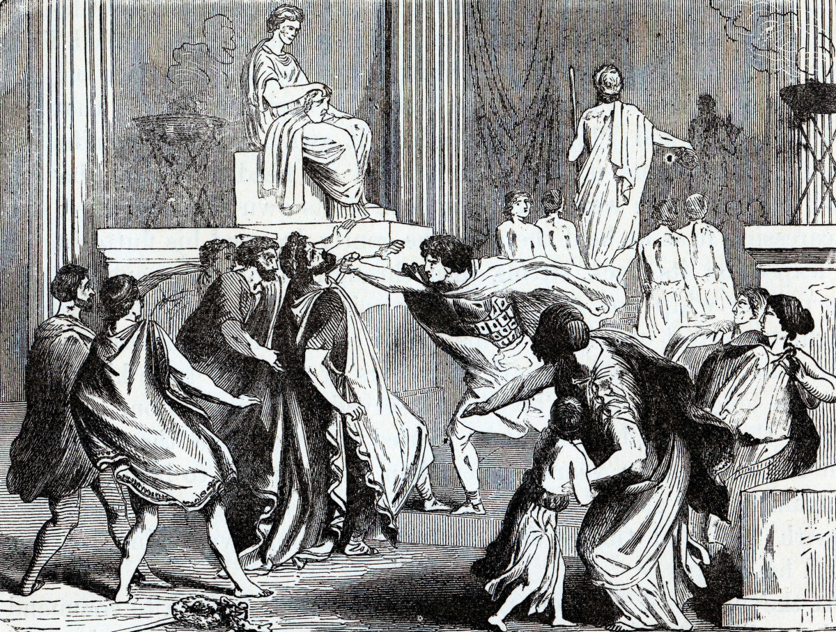 The assassination of King Philip II.