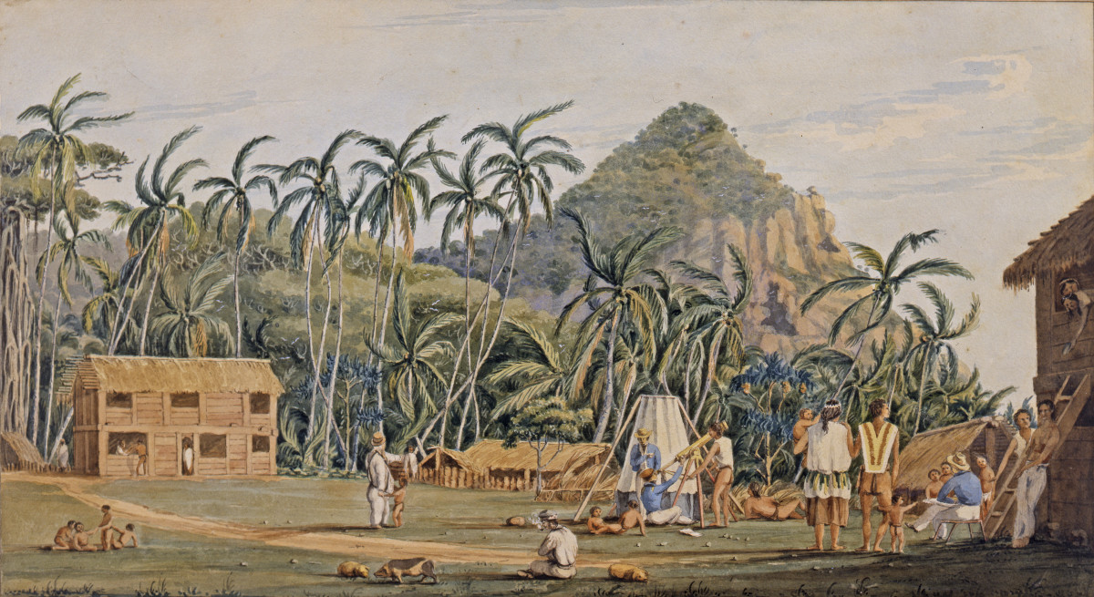 A village of Pitcairn Island.
