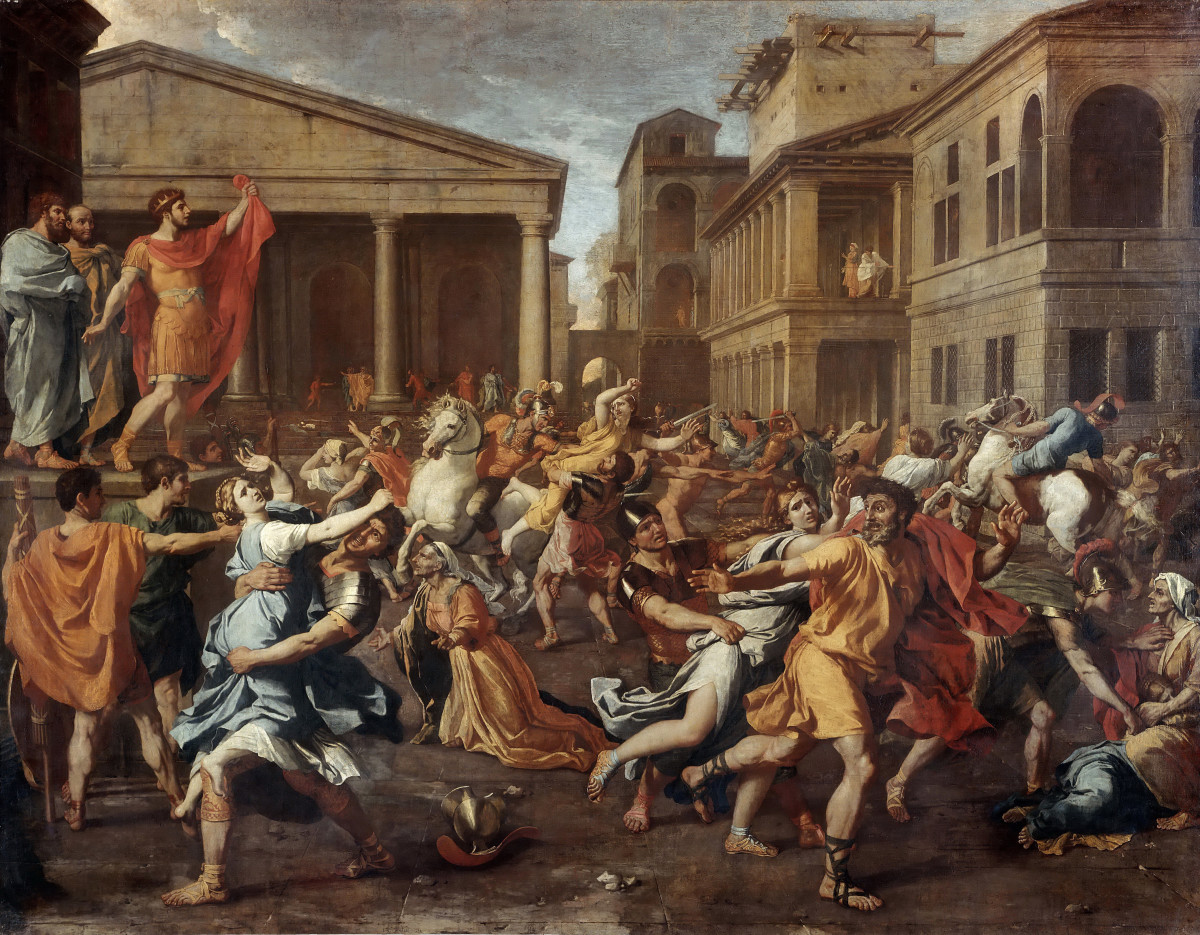 The Rape of the Sabine women.