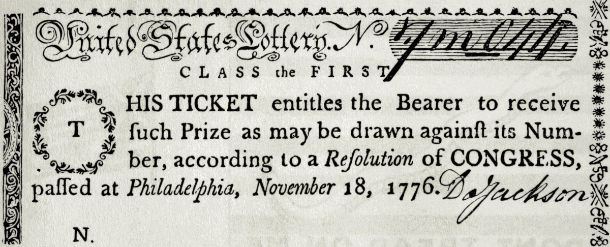 Colonial Lottery Ticket