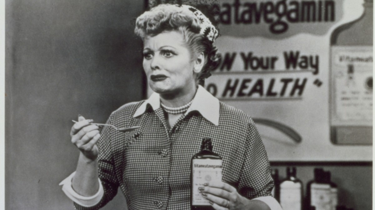 Still from the 1950s CBS television sitcom 'I Love Lucy.'