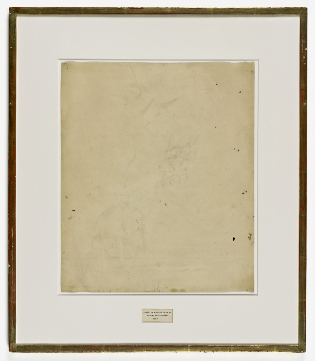 Erased de Kooning Drawing by Robert Rauschenberg