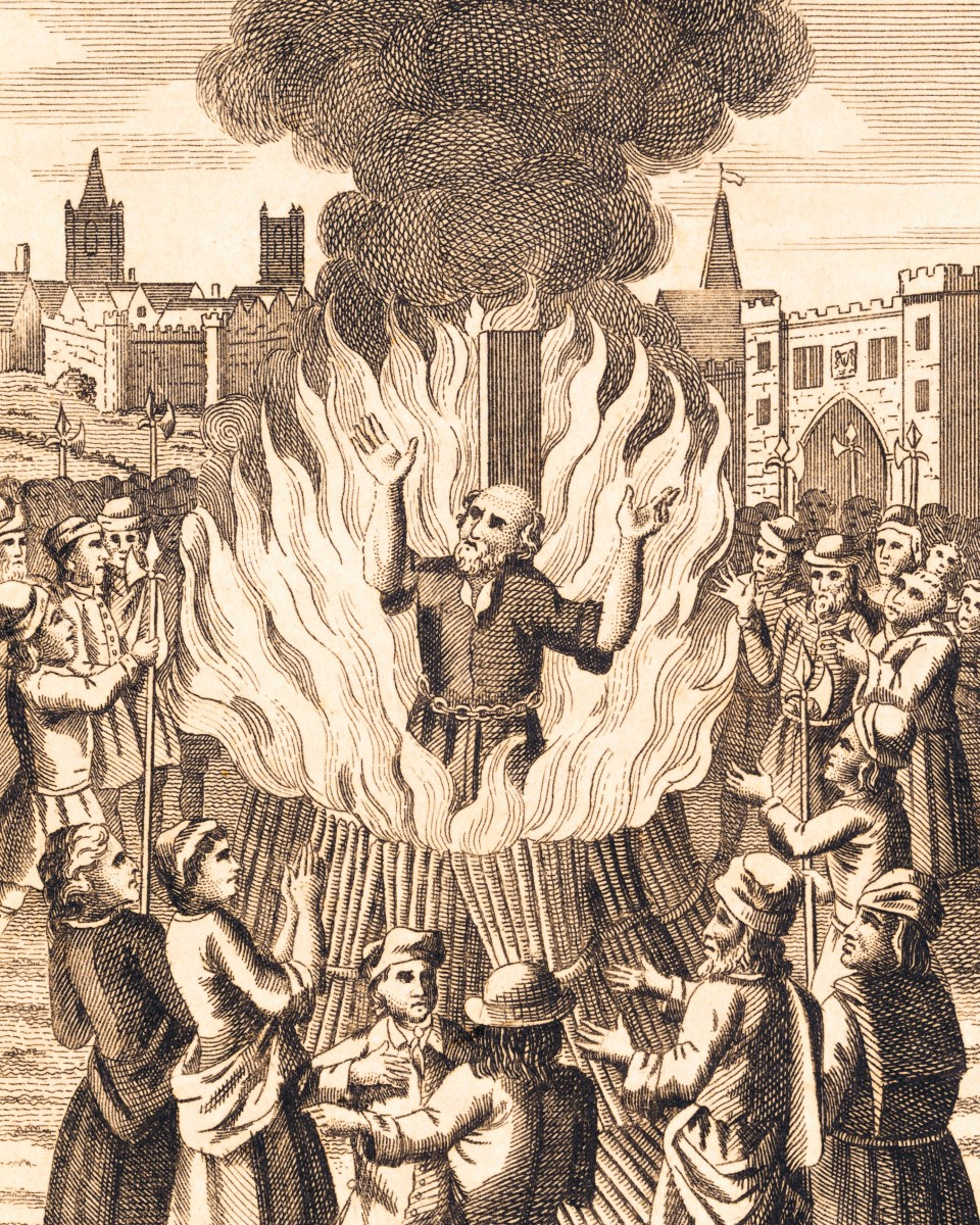 Protestants being burnt at the stake during the Reign of Queen Mary I.