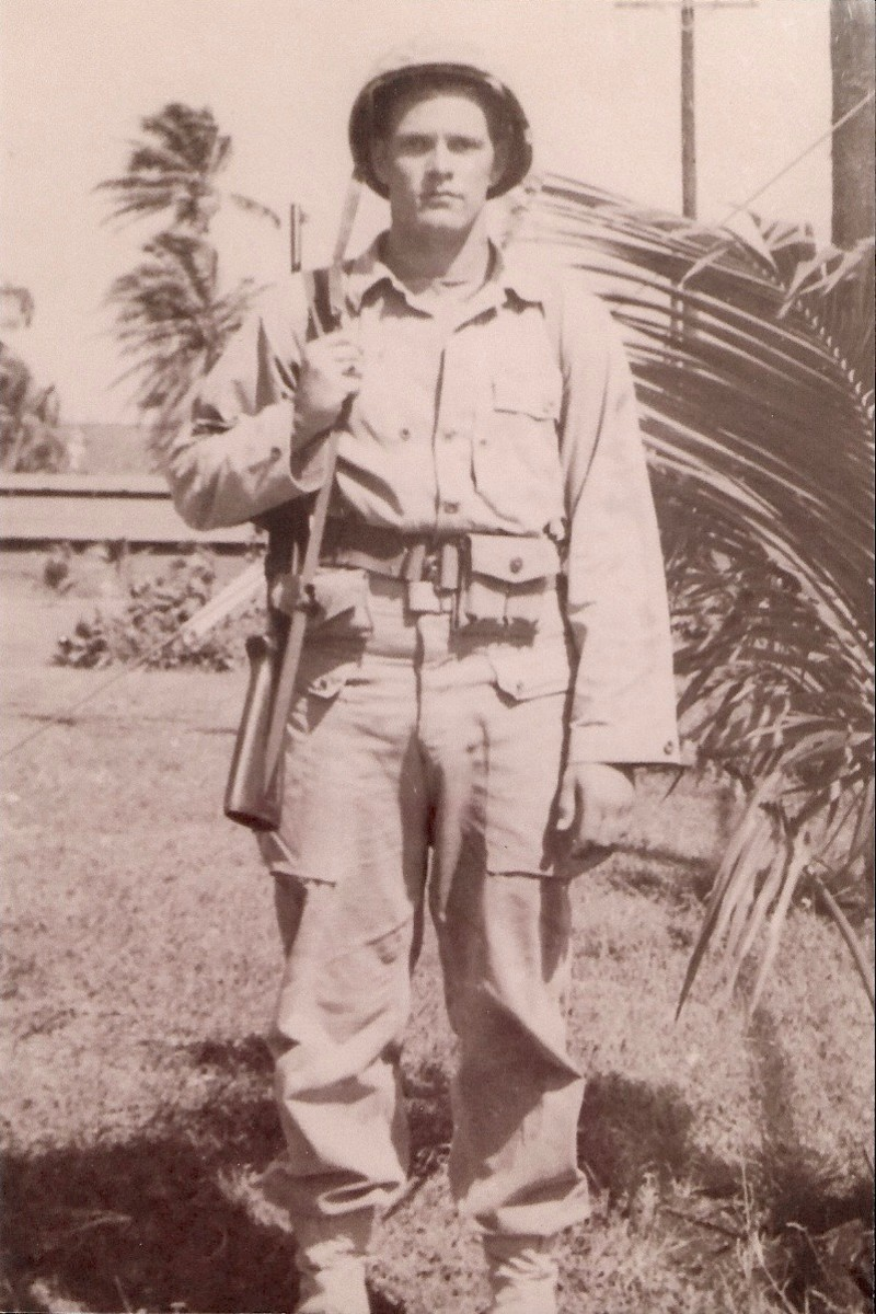 Robert Whited in Guam prior to his deployment in Korea