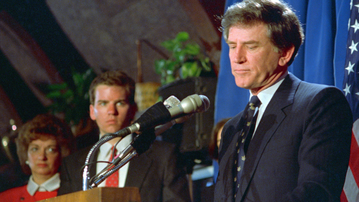 Gary Hart resignation. Democratic presidential candidate ...