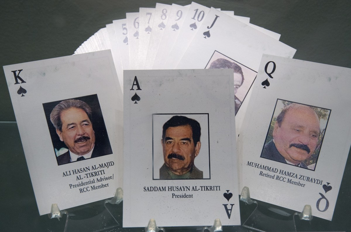 Iraq's 'most wanted' deck of playing cards