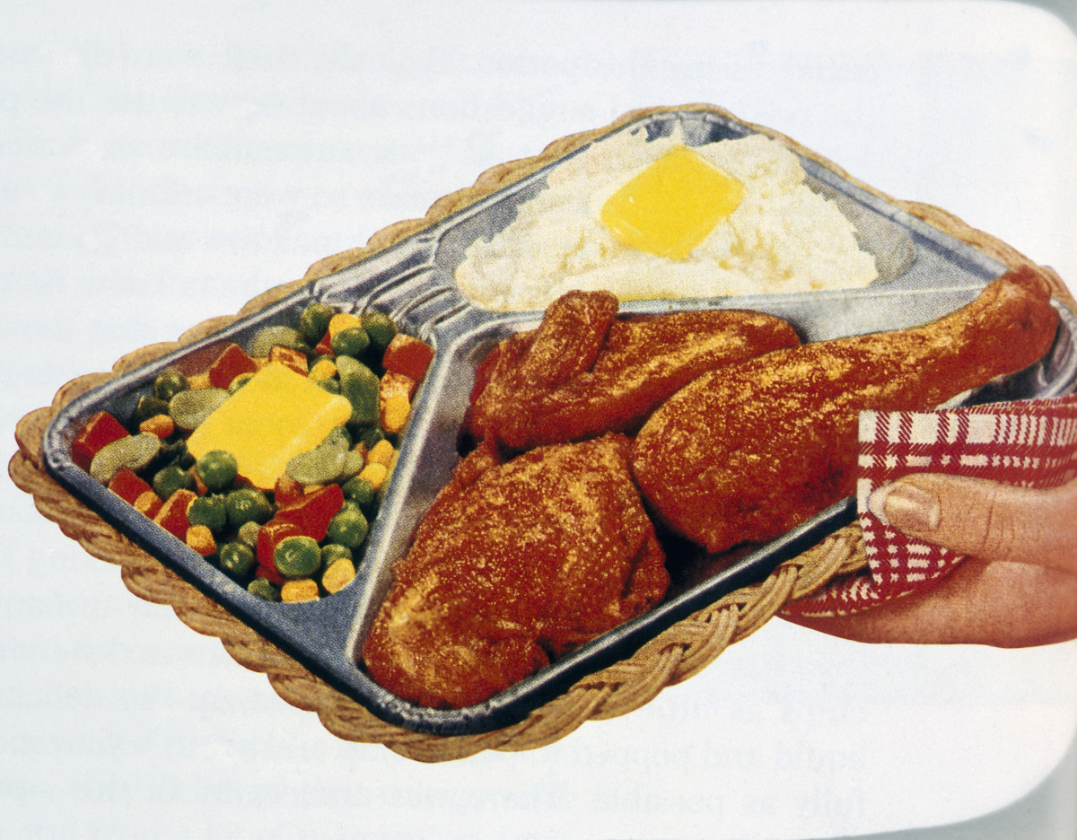 Advertisement for a tv dinner.